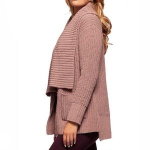 Super Comfy & Stylish! Open-Front Sweater in Blush